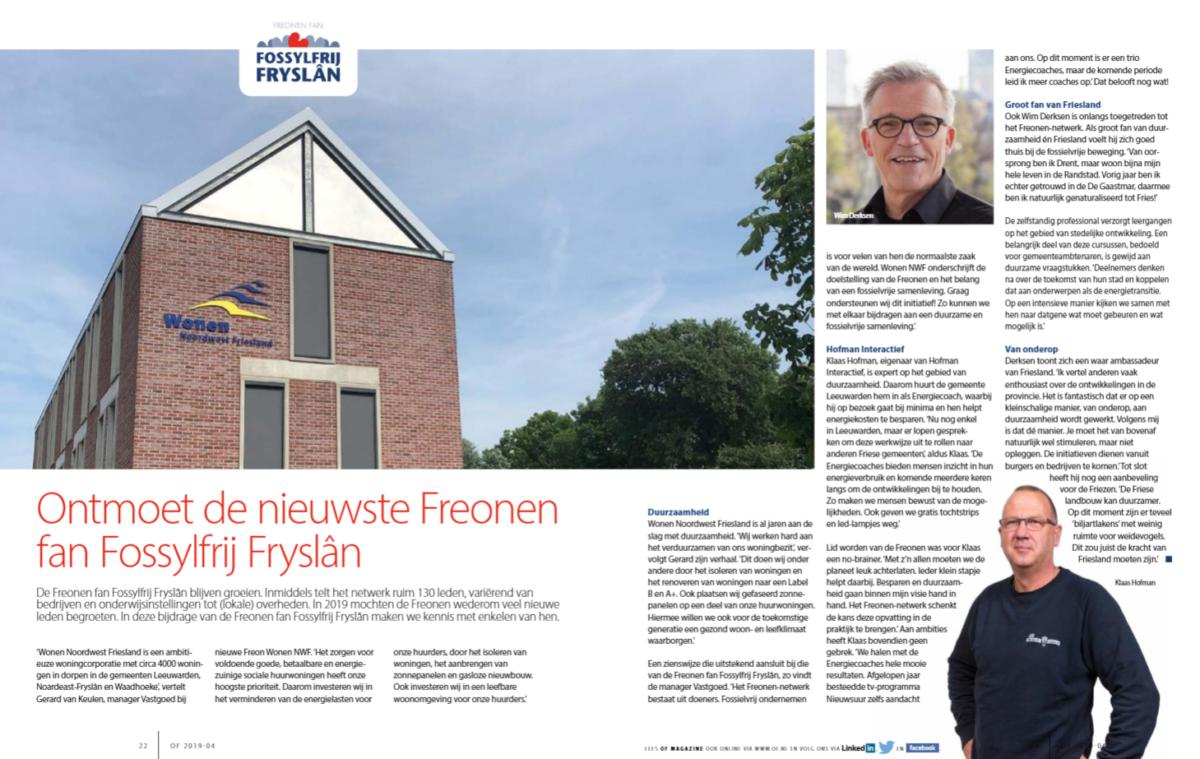 Juli-editie Ondernemend Friesland zet veel Freonen in schijnwerpers