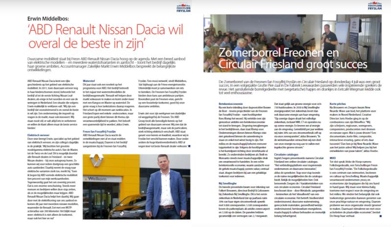 Mooie verhalen over Freonen in september-editie Ondernemend Friesland