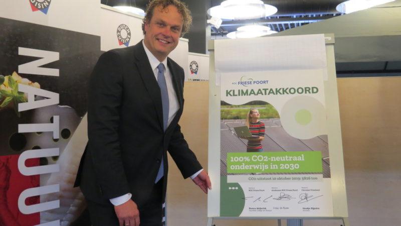 'Klimaatakkoord' voor ROC Friese Poort: 100% CO2-neutraal onderwijs in 2030
