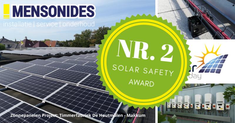 Mensonides Installatie behaalt tweede plaats tijdens Solar Safety Day