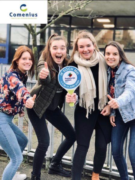 CSG Comenius Mariënburg verbindt zich aan Fossielvrije Weken 2020