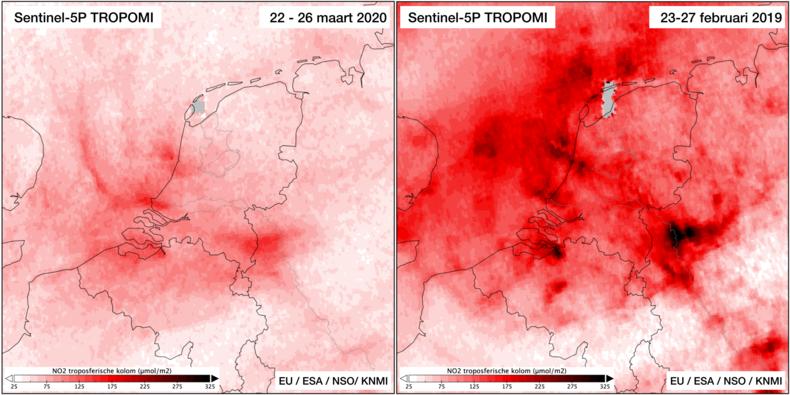 Luchtvervuiling Nederland daalt fors door coronamaatregelen