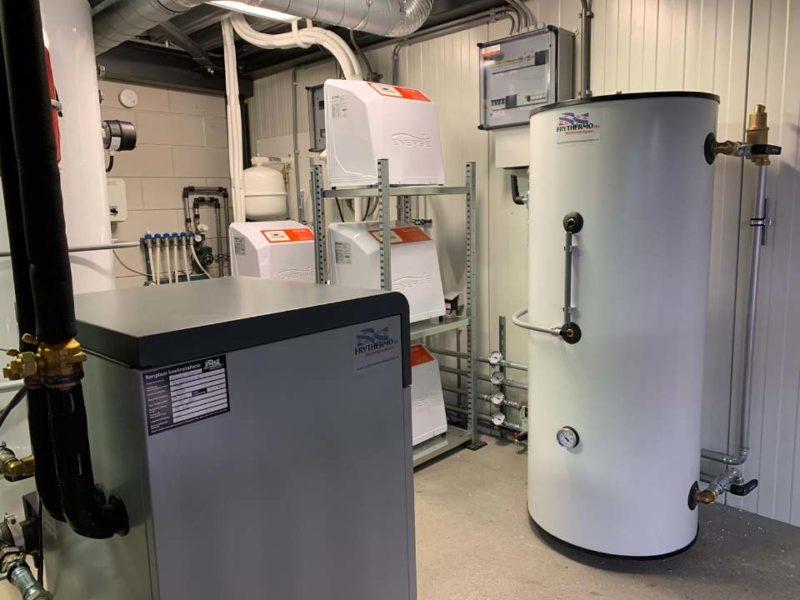 Frythermo druk in de weer met warmtepomp in bedrijfspand Drachten