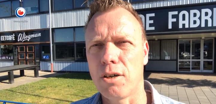 Jaap Hoekstra van De Fabriek Leeuwarden vlogt voor Omrop Fryslân over ondernemen tijdens coronasituatie