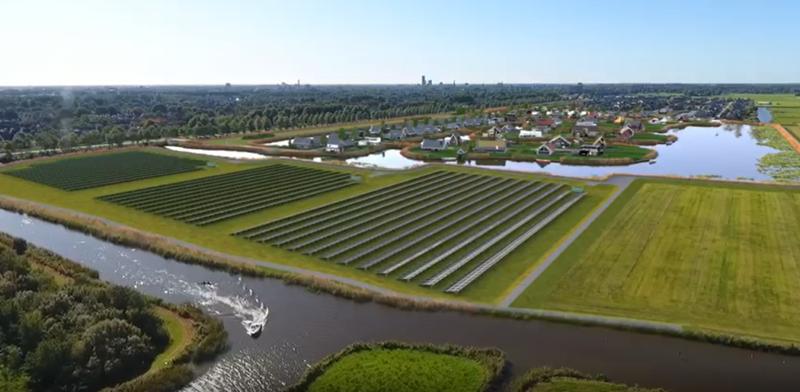 GroenLeven start bouw zonnepark Blitsaerd in Leeuwarden