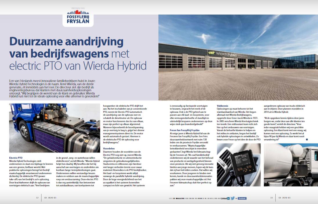 Wierda Hybrid Technologies in schijnwerpers door Ondernemend Friesland