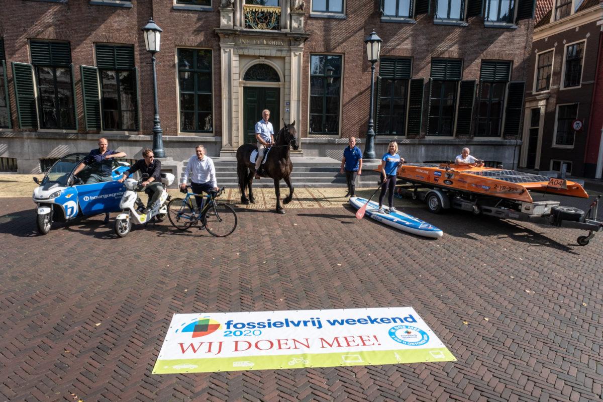 Burgemeester en wethouders Leeuwarden doen mee aan Fossielvrij Weekend