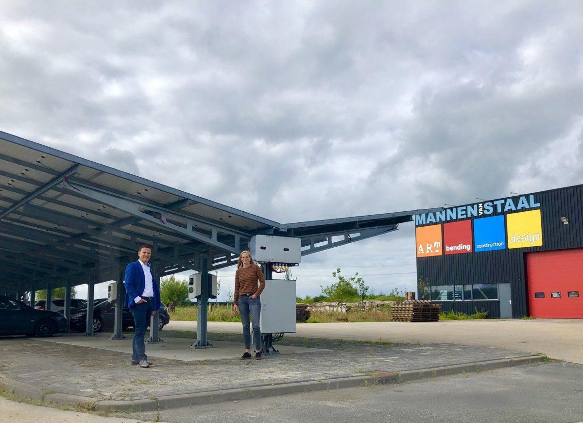 Laden op zonne-energie met ECO-carports Mannen van Staal