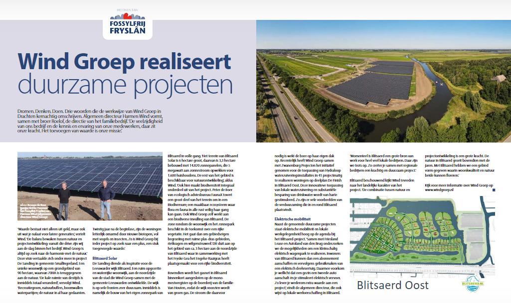 Groot artikel over Wind Groep in nieuwste Ondernemend Friesland