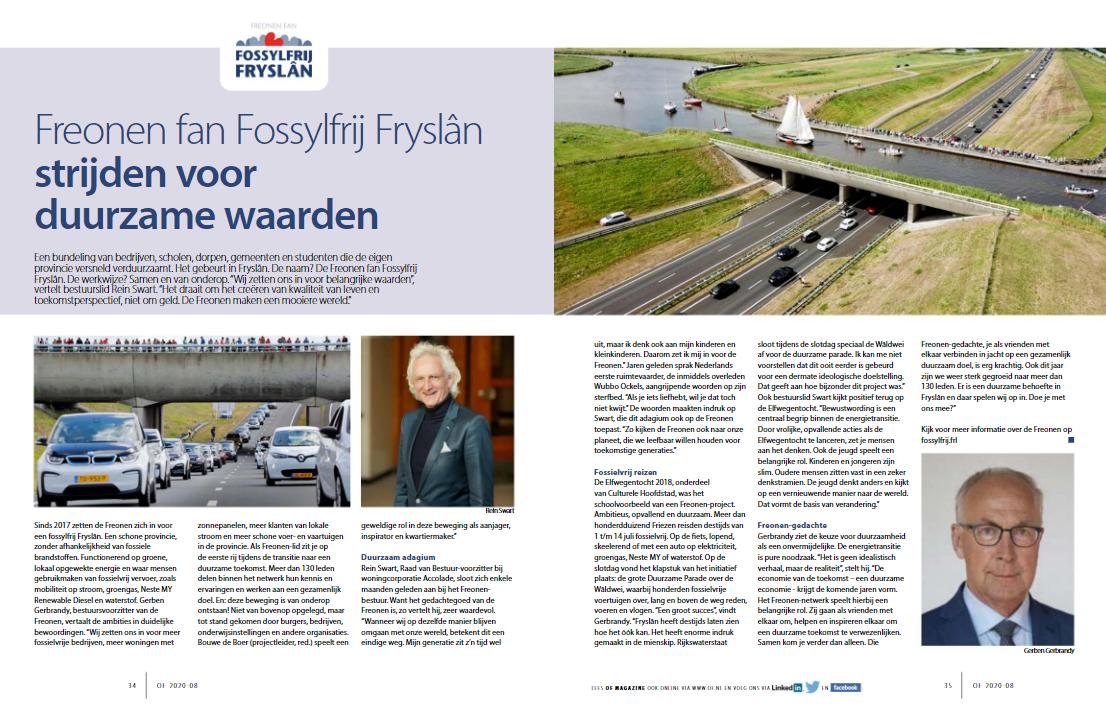 Freonen-bestuur in de spotlights in decembernummer Ondernemend Friesland
