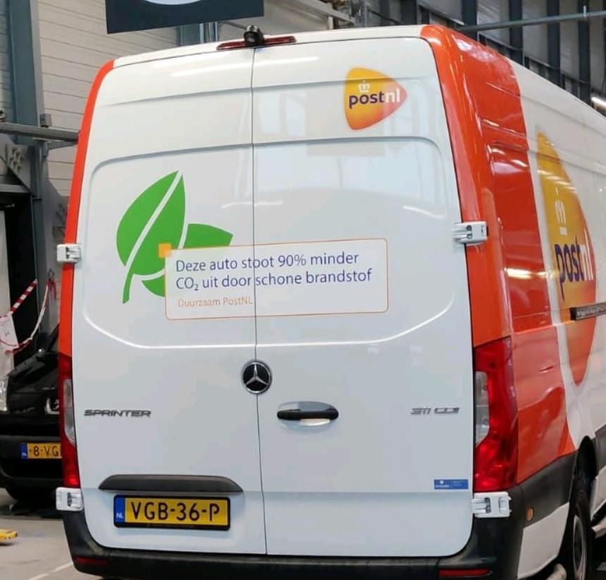 Deel vloot PostNL over op Neste MY Renewable Diesel