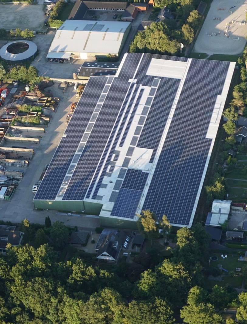 Zonnecentrale Trynwâlden grootste collectief tot stand gekomen zonnedak van Nederland