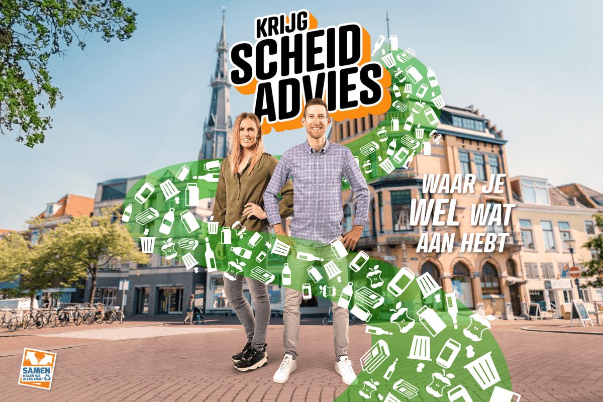 Sporters Bauke Mollema en Marit Bouwmeester vloggen voor Omrin: minder afval in Friesland en Groningen