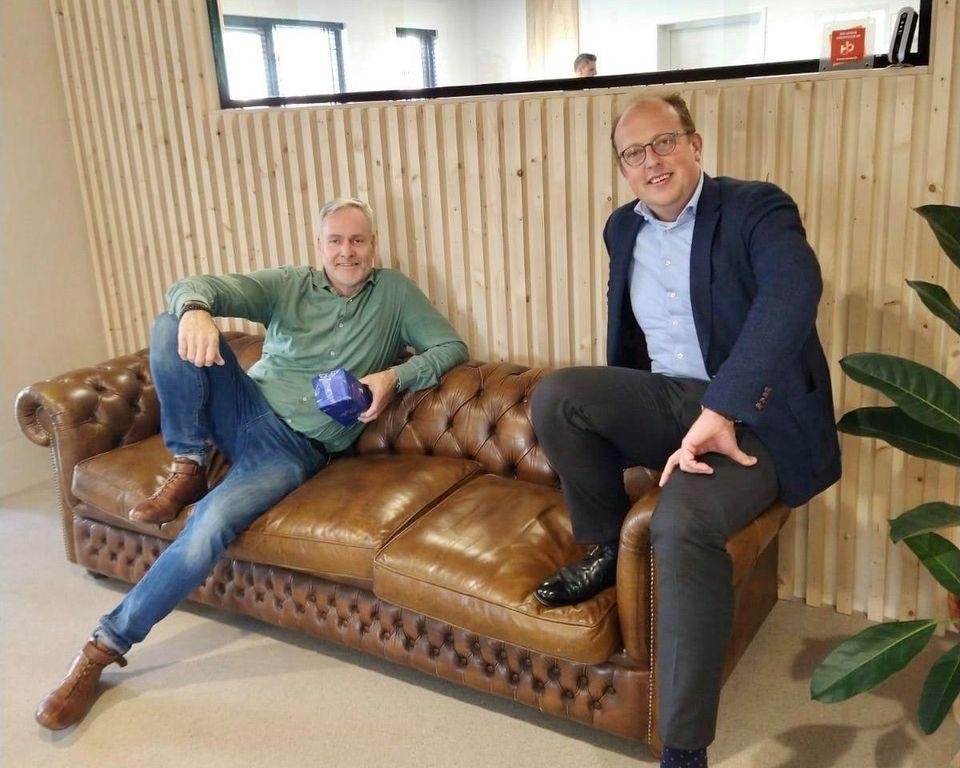 Wethouder Douwstra op bezoek bij Zaanderwijk