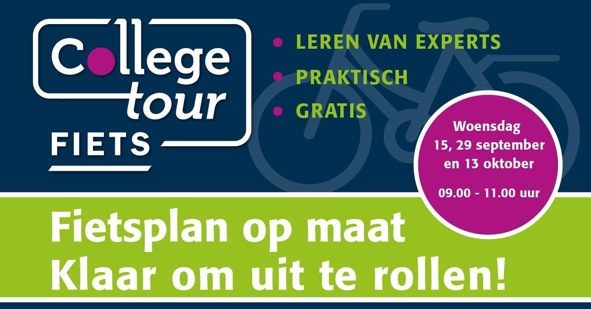 Meld je organisatie gratis aan voor Collegetour Fiets - exclusief voor werkgevers in Fryslân